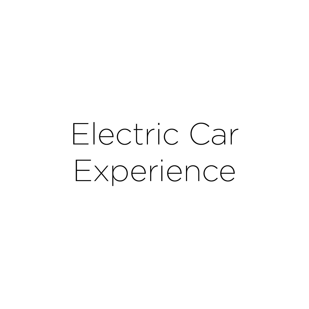 Electric Car Experience